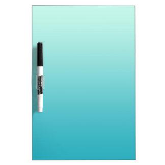 ONLY COLOR gradients - ocean blue Dry Erase Board