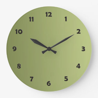 ONLY COLOR gradients - olive green + clock face