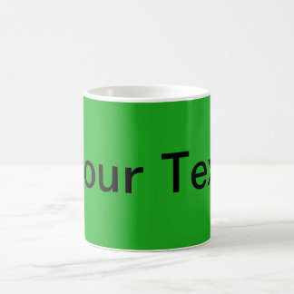 ONLY COLOR / grass green + your text Coffee Mugs
