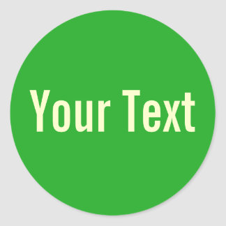 ONLY COLOR grass green + your text Sticker