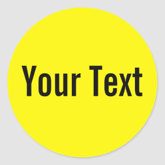 ONLY COLOR lemon + your text Round Stickers