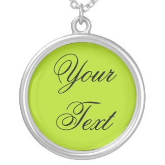 ONLY COLOR / light green + your text Custom Necklace