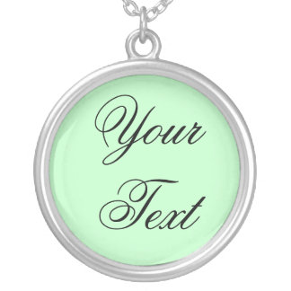 ONLY COLOR / light mint + your text Custom Necklace