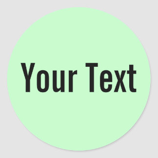 ONLY COLOR | light mint + your text Stickers