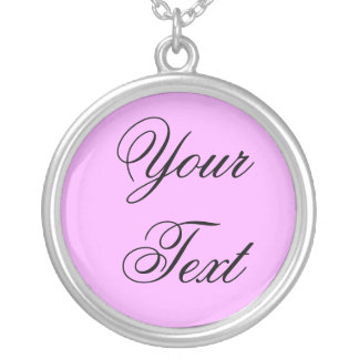 ONLY COLOR / light pink + your text Pendant