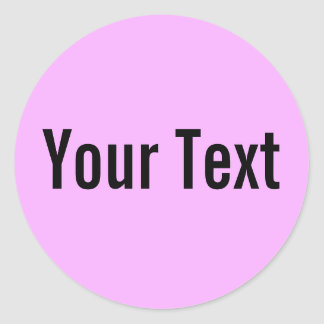 ONLY COLOR | light pink + your text Sticker