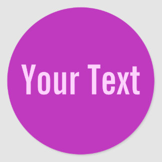 ONLY COLOR | magenta + your text Stickers