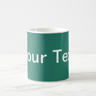 ONLY COLOR / ocean green + your text Coffee Mug