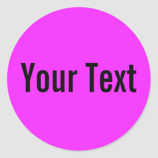 ONLY COLOR | pink + your text Round Stickers