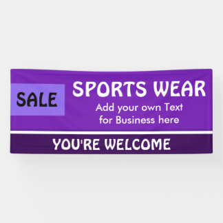 Only Color purple, light violet & white stripe Banner