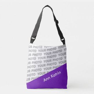 ONLY COLOR RECTANGLES - purple + your ideas Crossbody Bag