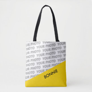 ONLY COLOR RECTANGLES - yellow + your ideas Tote Bag