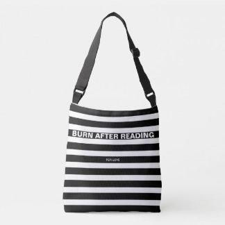 ONLY COLOR STRIPES - black + your backgr. & ideas Crossbody Bag