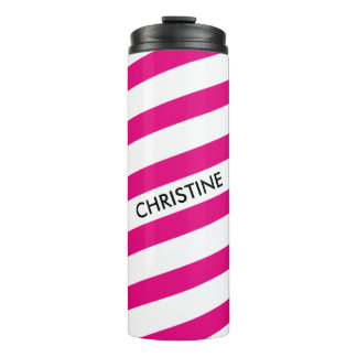 ONLY COLOR STRIPES - white + your backgr. & ideas Thermal Tumbler