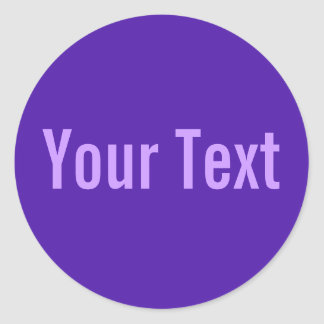 ONLY COLOR violet + your text Sticker