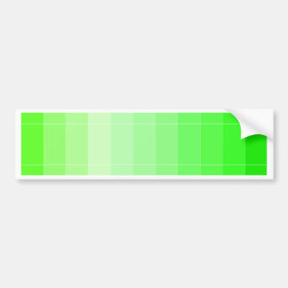 Only Color Yellow Yellow-Green Ombre Bumper Stickers