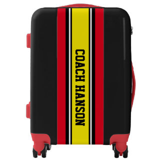 ONLY colored Stripes - black, yellow, white Luggage
