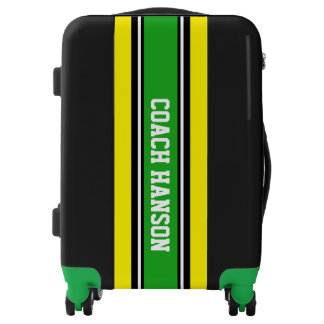 ONLY colored Stripes - green, black, white Luggage