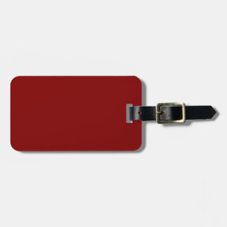 Only cool red wine maroon solid color background luggage tag