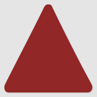 Only cool red wine maroon solid color background triangle sticker