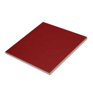 Only cool red wine maroon solid color OSCB04 Ceramic Tile