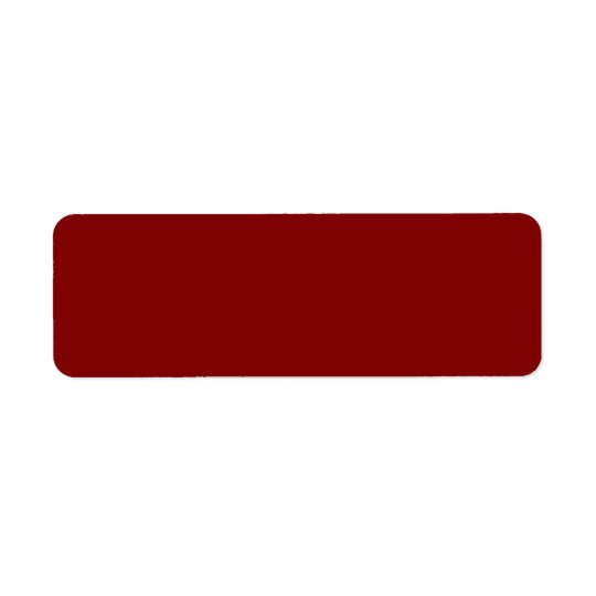 Only cool red wine maroon solid colour OSCB04 Return Address Label