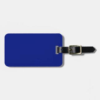 Only dark blue elegant solid OSCB33 Luggage Tag