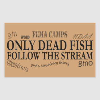 only dead rectangular sticker