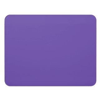 Only deep violet purple solid color OSCB49 Door Sign