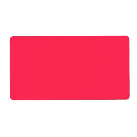 Only fuchsia pink pretty solid colour background shipping label