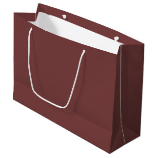 Only gorgeous warm burgundy marsala solid OSCB21 Large Gift Bag