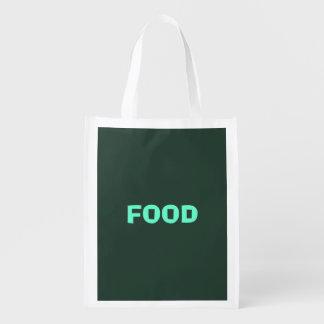 Only green forest vintage solid color background reusable grocery bag