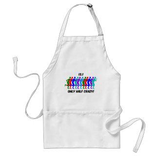 only half crazy adult apron