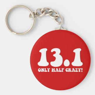 only half crazy basic round button key ring