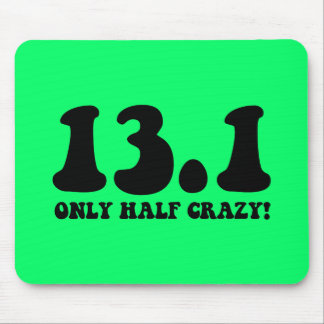only half crazy mouse pad