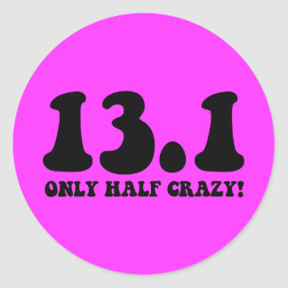 only half crazy sticker