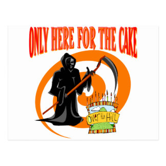 Only Here For The Cake Postcard