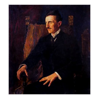 Only Known Life Portrait of Nikola Tesla  1916 Poster