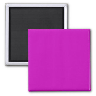 Only magenta pink stylish solid color background 2 inch square magnet