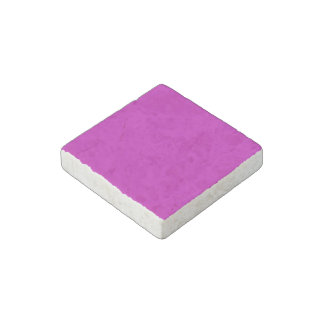 Only magenta pink stylish solid color background stone magnet