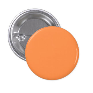 Only melon orange pretty solid color background 3 cm round badge