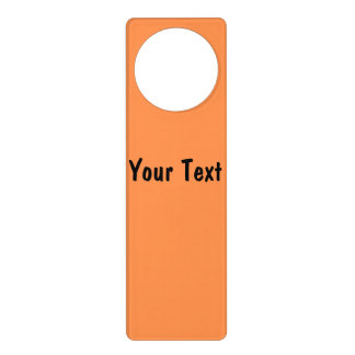 Only melon orange pretty solid color background door hanger