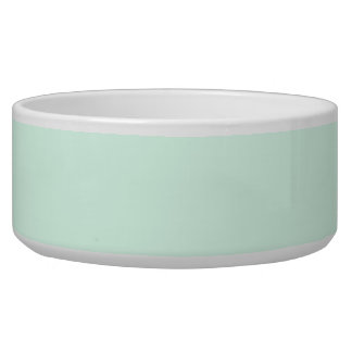 Only mint green pretty pastel solid color dog bowl