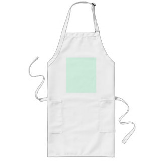 Only mint green pretty solid color background long apron