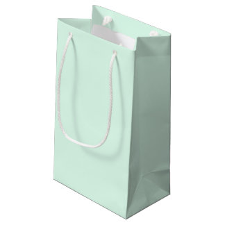 Only Mint green pretty solid color OSCB12 Small Gift Bag