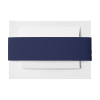 Only navy blue gorgeous solid color OSCB13 Invitation Belly Band