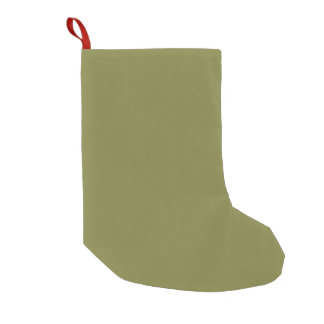 Only olive green cool solid color OSCB24 Small Christmas Stocking