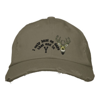 Only on days that end in Y White Tail Embroidery Embroidered Hats