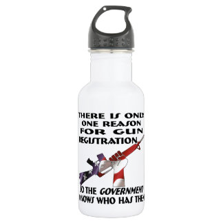 Only ONE Reason For Gun Registration 532 Ml Water Bottle