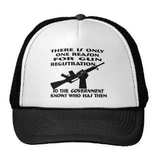 Only ONE Reason For Gun Registration Hat